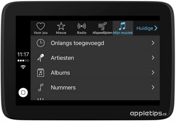 Apple Music mijn muziek carplay