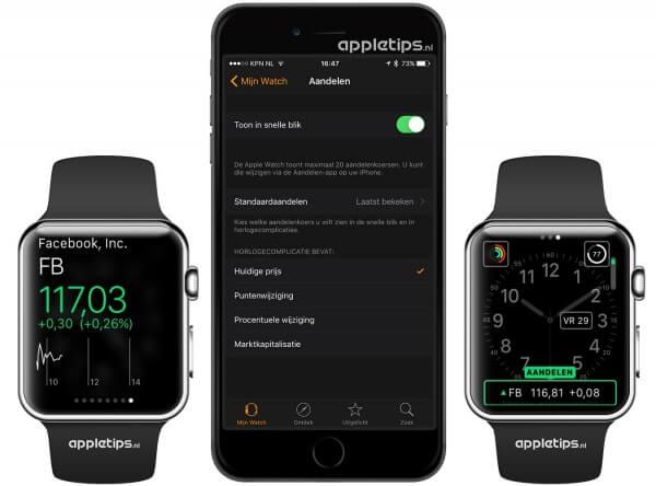 aandelen Apple Watch snelle blik