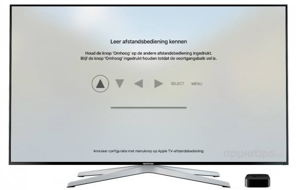 universele afstandsbediening koppelen Apple TV 4