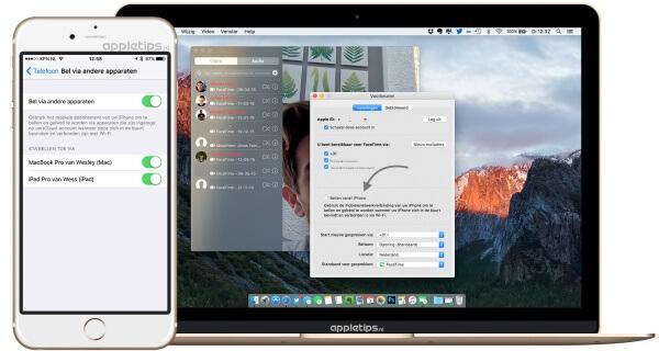 Oproepen ontvangen op een mac en doorsturen uitschakelen