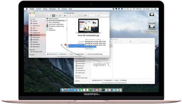 bestanden verplaatsen of kopiëren in OS X Finder
