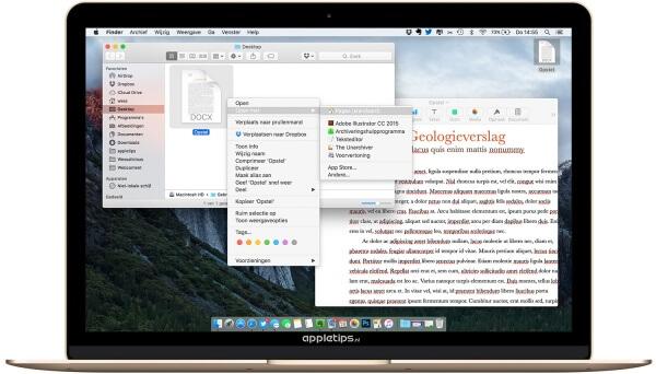 docx bestanden openen op een mac met pages en teksteditor