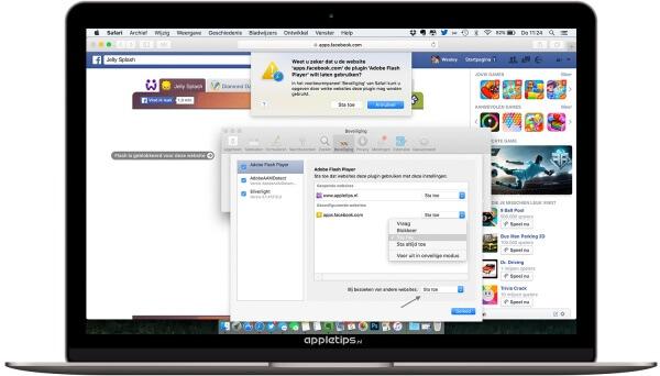 geblokkeerde plugin safari OS X wat is dit