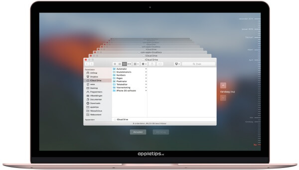 iCloud Drive activeren in Time Machine
