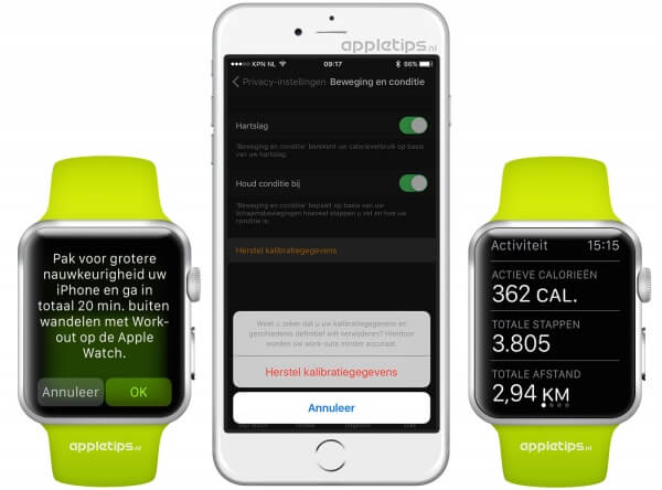 stappen Apple Watch kalibreren