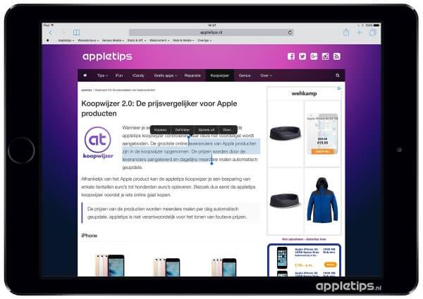 kopiëren en plakken in iOS