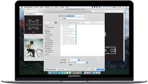pdf bestanden verkleinen in OS X