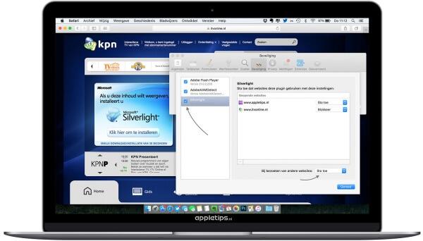 Niet werkende Microsoft Silverlight in OS X Safari (oplossing)