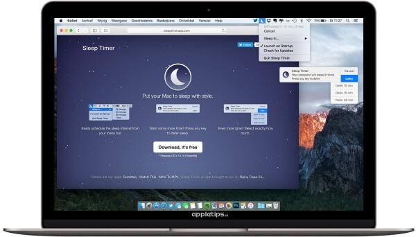 sleep timer app gebruiken voor sluimeren mac