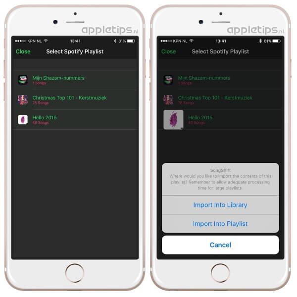 spotify afspeellijsten overzetten naar Apple Music
