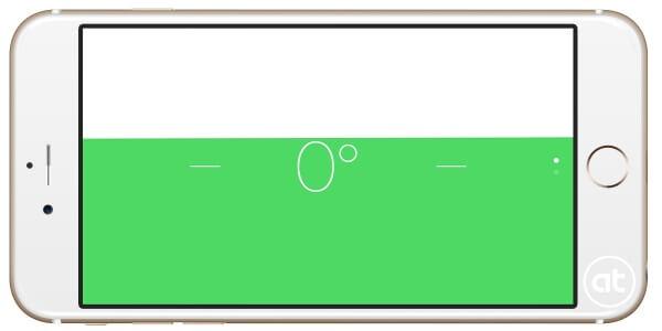 waterpas in de kompas app in iOS
