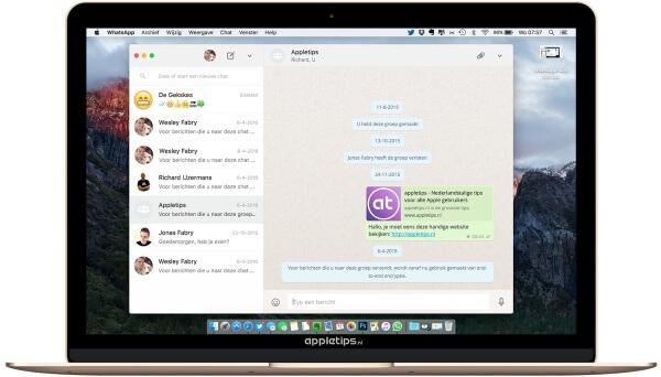 whatsapp desktop-app voor Mac en Windows