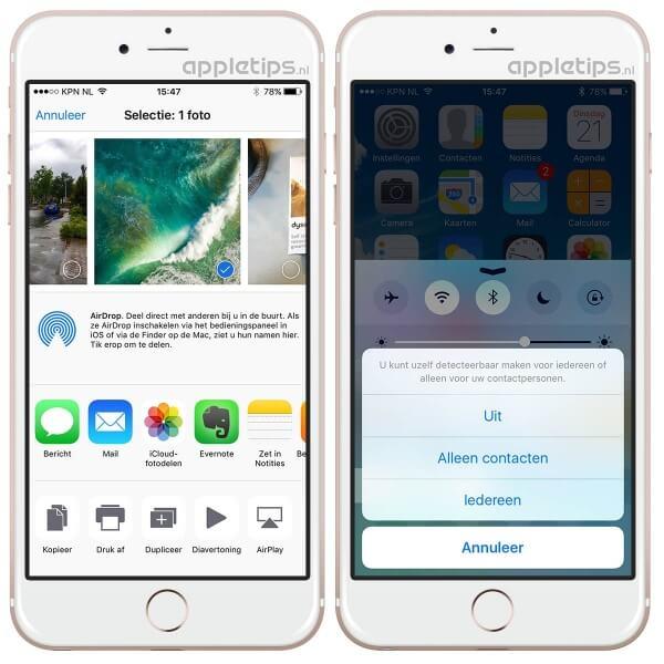 Problemen met AirDrop oplossen iphone of iPad