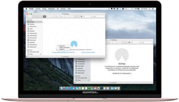 Problemen met AirDrop oplossen Mac