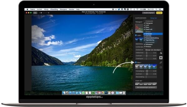 bewerkingsopties foto's voor OS X activeren