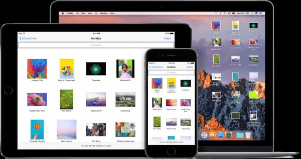 bureaublad overal in macOS sierra