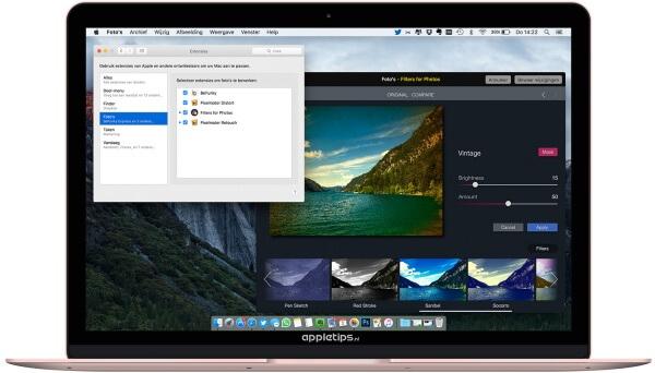 Foto's voor OS X filters extensie gratis