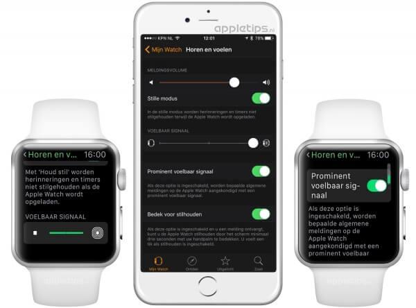 haptische trillingen aanpassen op de Apple Watch