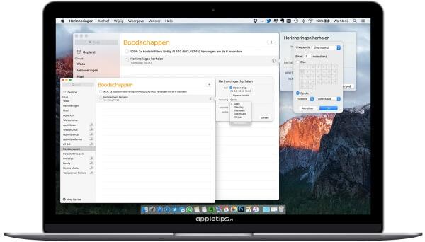 herinneringen herhalen OS X