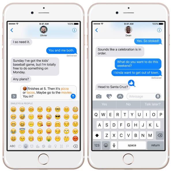 iOS 10 preview van berichten