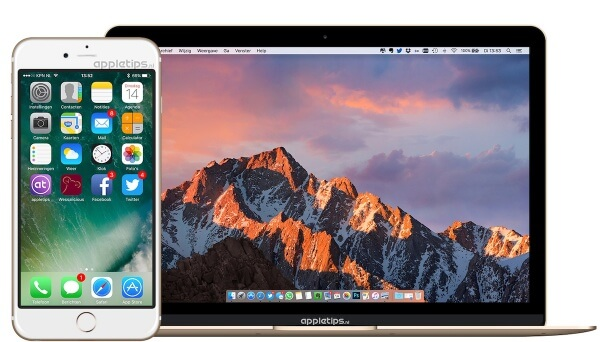 voorvertoning iOS 10 en macOS wallpaper