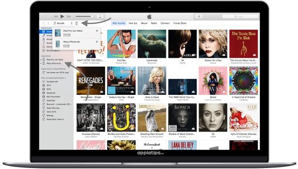iDevice raadplegen in iTunes 12.4