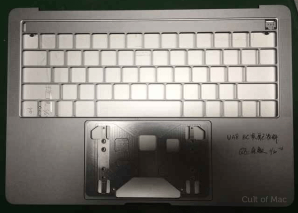 macbook pro toont OLED-balk