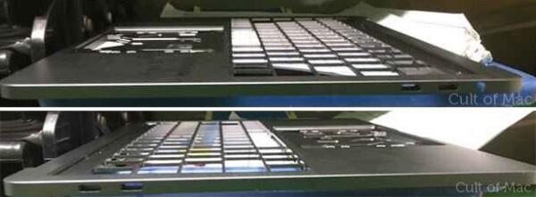 macbook pro toont OLED-balk en USB-C