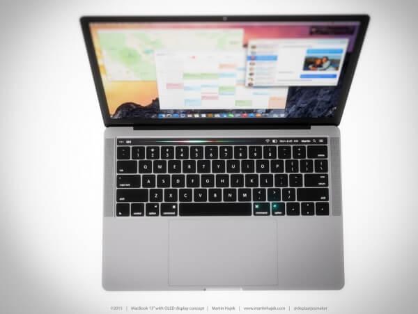MacBook Pro met OLED-balk Martin