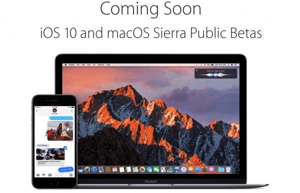 publieke beta ios 10 en macOS Sierra