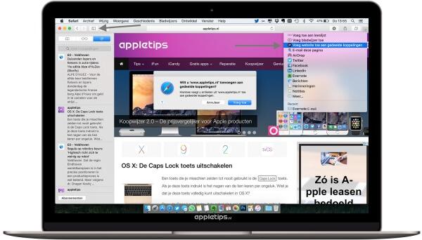 RSS feeds toevoegen aan Safari  OS X
