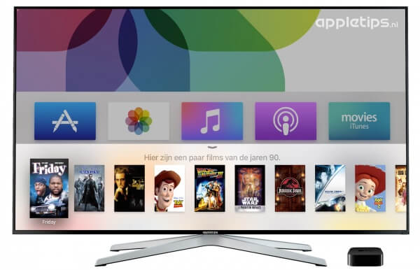 Apple TV 4 Siri in het Nederlands films zoeken