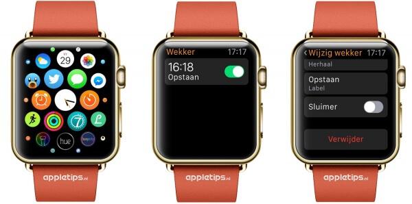 Snooze (sluimer) uitschakelen op Apple Watch