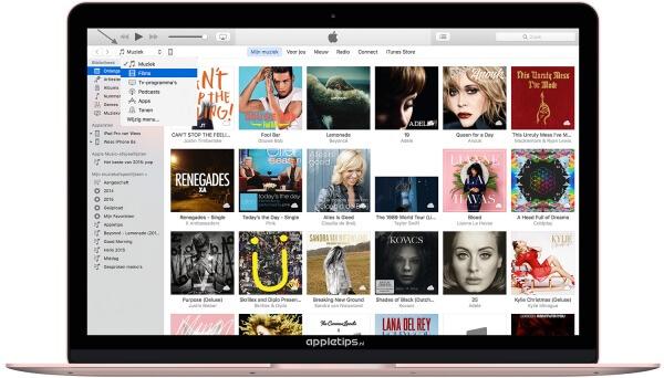 iTunes 12.4 muziek switchen