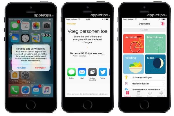 verborgen iOS 10 functies