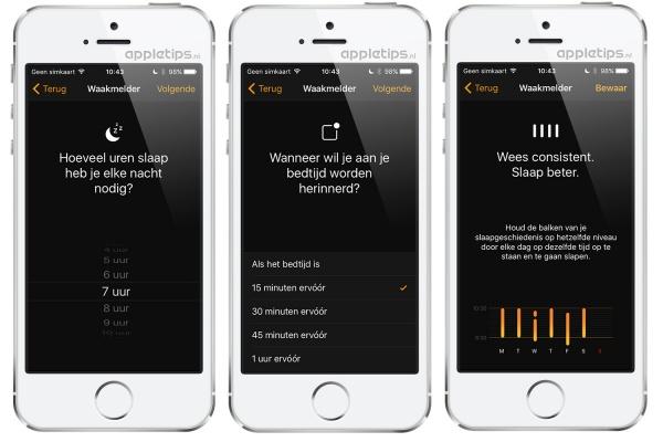 waakmelder en bedtijd gebruiken in iOS 10