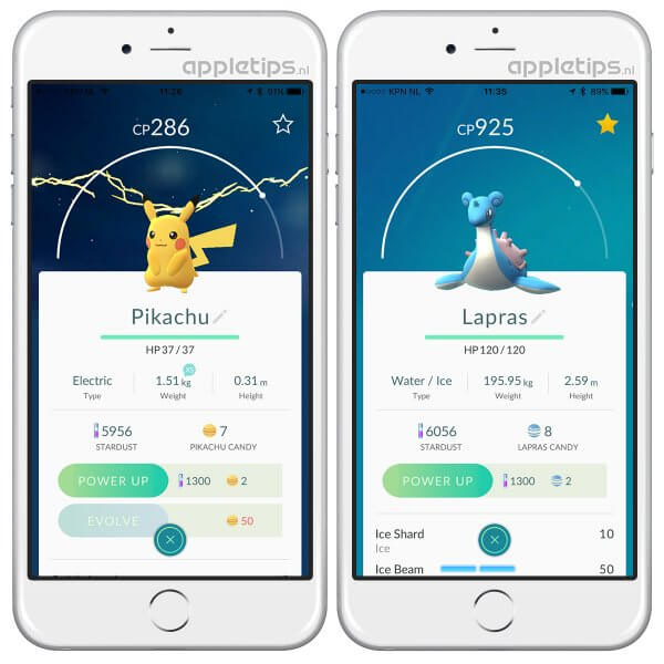 Combat Power bekijken in Pokémon Go