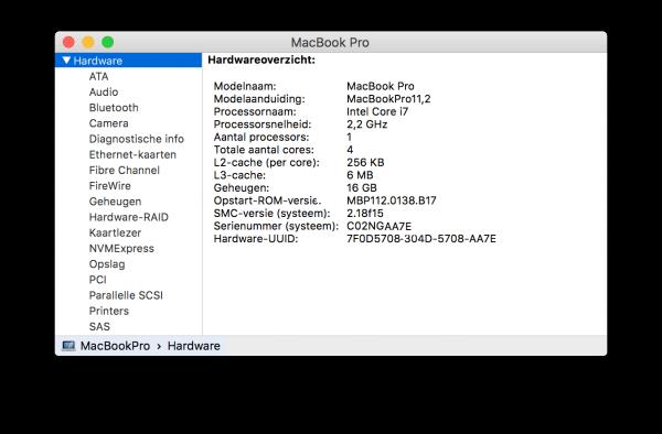 CPU Processor info via Over deze Mac bekijken