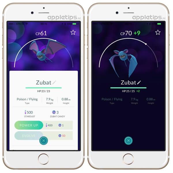 Pokémon go evouleren