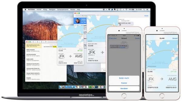 vluchtinformatie raadplegen in iOS of OS X