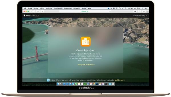 bedrijven toevoegen Apple Maps via connect
