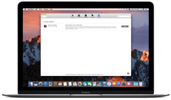 beta macOS in de mac App Store