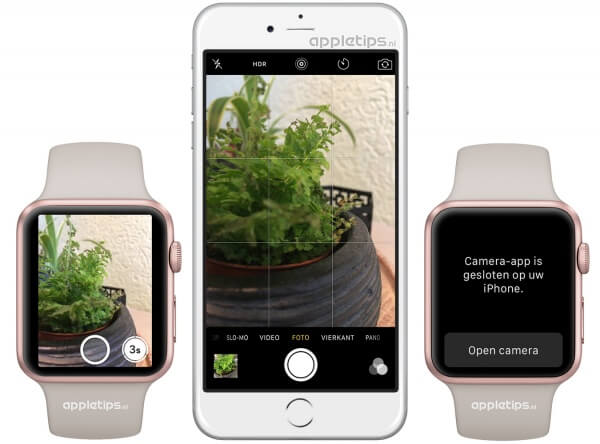 camera app Apple Watch activeren en gebruiken
