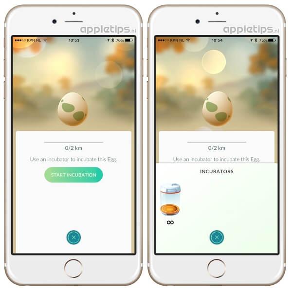 Pokémon Go: eggs uitbroeden