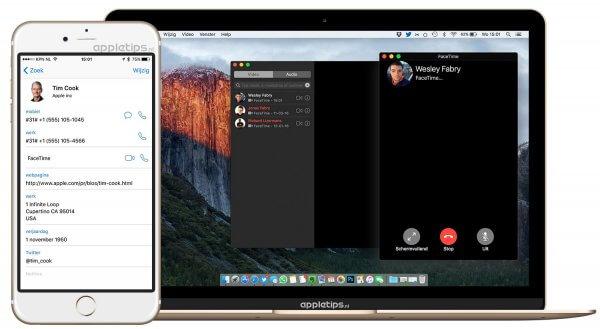 FaceTime gebruiken in iOS en macOS (OS X)