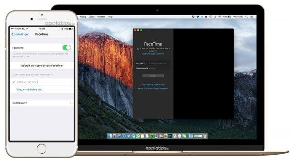 Facetime inschakelen en instellen op een iPhone en Mac