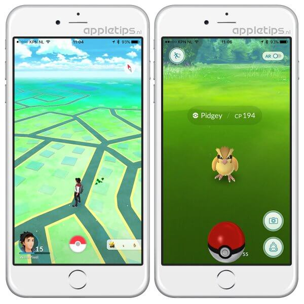 Groene blaadjes en AR in Pokémon Go