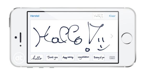 handschrift in iOS 10