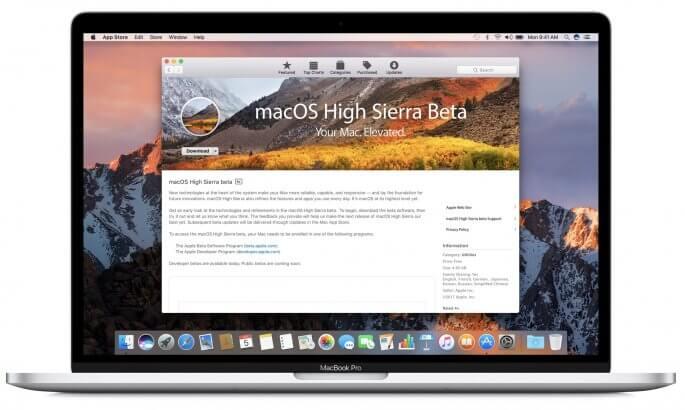 macOS high sierra beta
