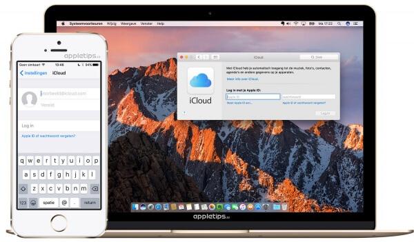 iCloud inloggen op een Mac, iPhone of iPad